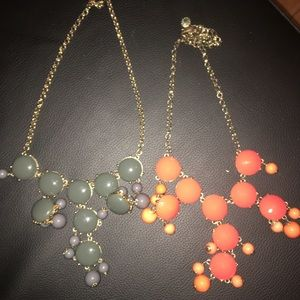 Lot of 2 J. Crew Factory Bubble Necklaces
